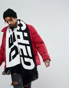 Черный шарф с надписью ASOS - Черный