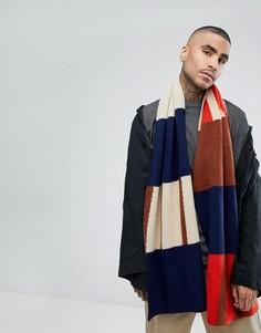 Темно-синий шарф в абстрактном стиле ASOS - Темно-синий
