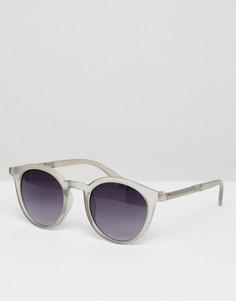 Круглые солнцезащитные очки с дымчатыми стеклами ASOS - Очистить