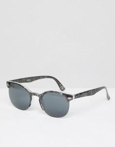 Черные квадратные солнцезащитные очки с дымчатыми стеклами ASOS - Черный