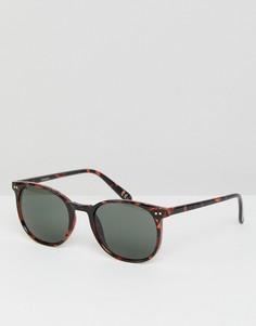 Квадратные солнцезащитные очки в черепаховой оправе ASOS - Коричневый