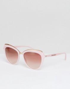 Розовые солнцезащитные очки кошачий глаз 57 мм Dolce & Gabbana 0DG4304 - Розовый