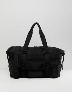 Черная сумка с молниями ASOS - Черный