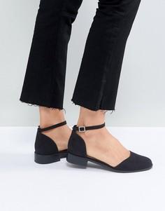 Туфли на плоской подошве ASOS MARV - Черный