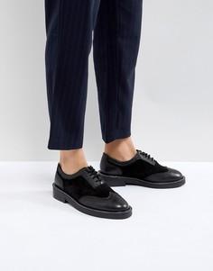 Кожаные премиум-туфли на плоской подошве ASOS MUNICH - Черный