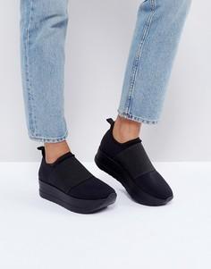 Кроссовки на платформе без шнурков Vagabond Casey - Черный