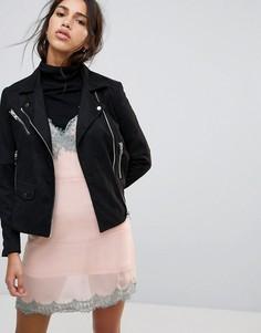 Байкерская куртка Religion Jade - Черный