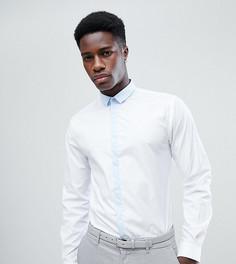 Приталенная рубашка с контрастной планкой Noak - Мульти