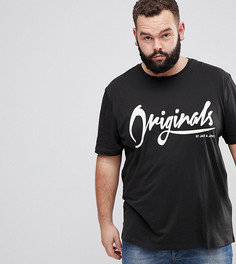 Футболка с принтом Jack & Jones Originals PLUS - Черный