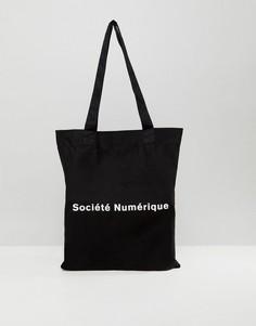 Сумка-тоут с принтом Societe Numerique ASOS - Черный