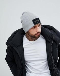 Шапка-бини с логотипом Calvin Klein Jeans - Серый