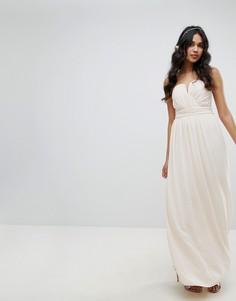 Платье-бандо макси TFNC WEDDING - Розовый