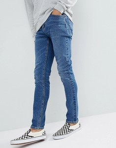 Темные зауженные джинсы ASOS - Синий