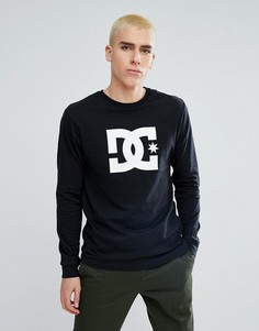 Черный лонгслив с логотипом DC Shoes - Черный