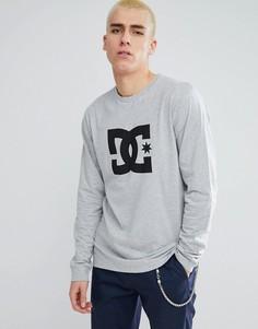 Серый лонгслив с логотипом DC Shoes - Серый