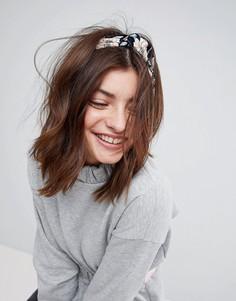 Повязка на голову с цветочным принтом ASOS - Черный