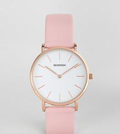 Часы с розовым кожаным ремешком Sekonda эксклюзивно для ASOS - Розовый