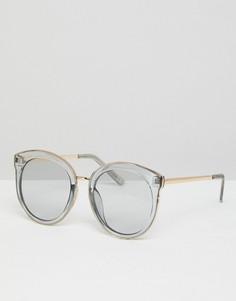 Большие круглые солнцезащитные очки с дымчатыми стеклами ASOS - Серый