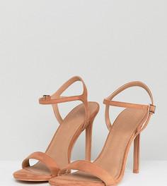 Босоножки на каблуке для широкой стопы ASOS HANDS DOWN - Бежевый