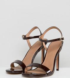 Босоножки на каблуке для широкой стопы ASOS HANDS DOWN - Коричневый