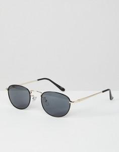 Металлические очки в стиле 90-х с черными овальными стеклами ASOS - Черный