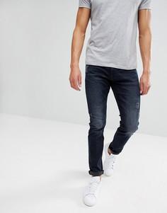 Рваные джинсы слим Esprit - Синий