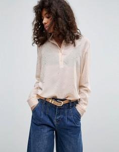 Блузка с высоким воротником Minimum - Розовый