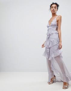 Платье макси с оборками The Jetset Diaries Olympus - Синий