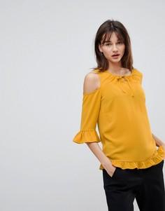 Блузка с вырезами на плечах Y.A.S Sussi - Желтый
