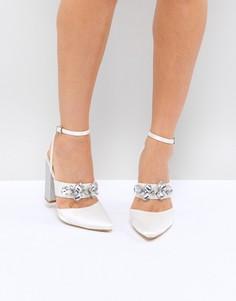 Туфли на каблуке с декоративной отделкой Be Mine Bridal Lucid - Белый