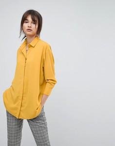 Мягкая длинная рубашка ASOS - Желтый