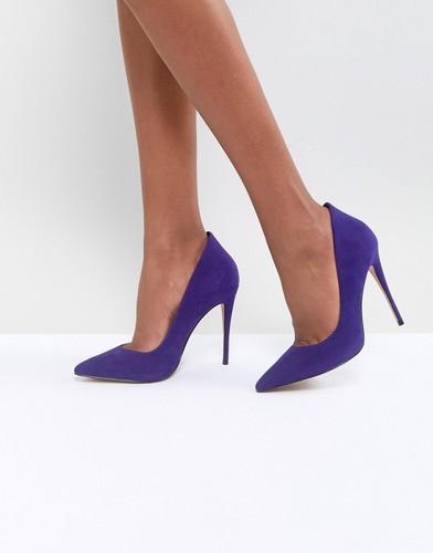 Фиолетовые замшевые туфли с острым носком ALDO - Синий