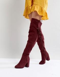 Высокие сапоги с кисточками New Look - Красный