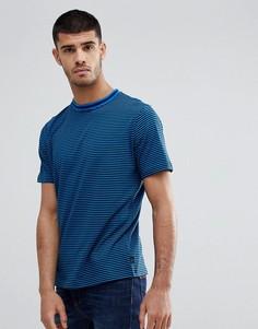 Темно-синяя футболка в полоску PS Paul Smith - Темно-синий