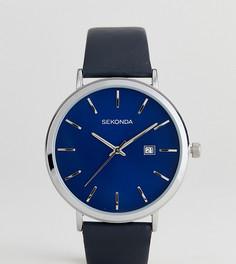 Черные часы с кожаным ремешком и серебристым корпусом Sekonda эксклюзивно для ASOS - Черный