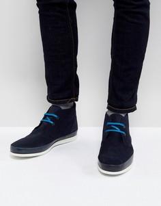 Темно-синие замшевые ботинки чукка PS Paul Smith Cleon - Темно-синий