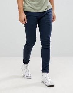 Эластичные супероблегающие брюки чиносы Kronstadt - Темно-синий Kronstradt