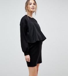 Трикотажное платье для кормящих мам ASOS MATERNITY - Черный