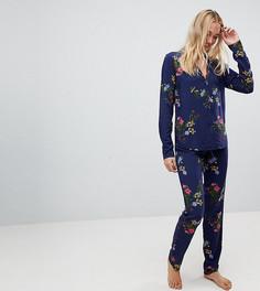 Пижамный комплект с цветочным принтом ASOS TALL - Мульти
