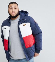 Лыжная дутая куртка с капюшоном и логотипом Ellesse Plus - Темно-синий