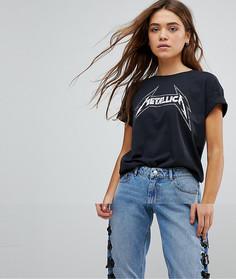Футболка с принтом Metallica Only - Черный