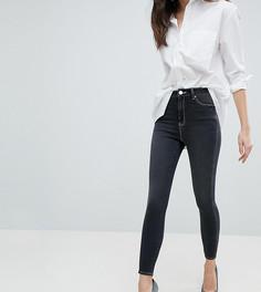 Черные выбеленные джинсы скинни с завышенной талией ASOS RIDLEY - Черный