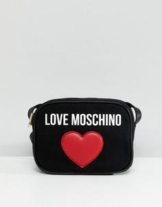 Парусиновая сумка для фотоаппарата Love Moschino - Черный
