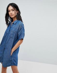 Джинсовое платье-рубашка Blank NYC - Синий