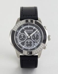 Часы с черным кожаным ремешком Versus Versace SP3801 Admiralty - Черный
