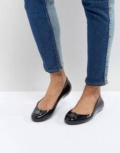 Черные туфли на плоской подошве Vivienne Westwood for Melissa Space Love - Черный