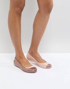 Туфли на плоской подошве с блестками Vivienne Westwood For Melissa - Розовый