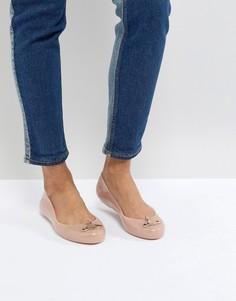 Розовые туфли на плоской подошве Vivienne Westwood for Melissa Space Love - Розовый