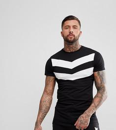 Черная обтягивающая футболка с шевронным принтом Good For Nothing - Черный