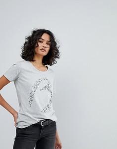 Фирменная футболка узкого кроя BOSS Casual - Серебряный